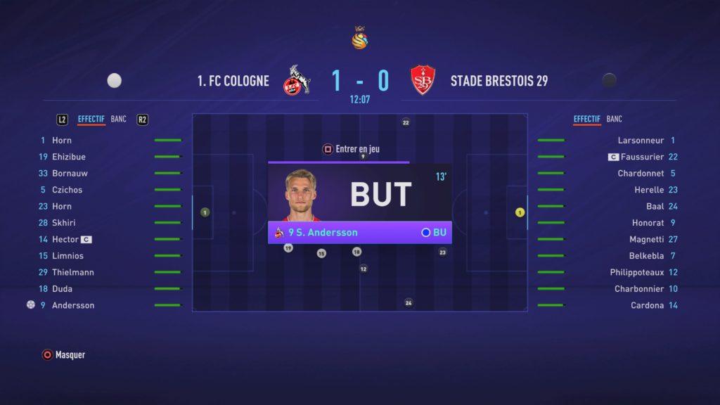 FIFA 21 Match Carrière 1-0 COL - SB, 1re période