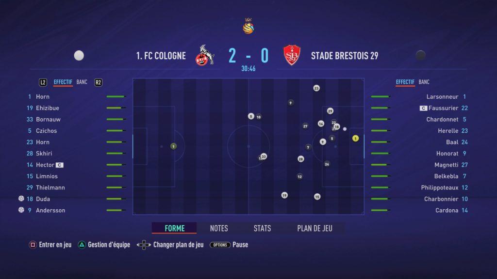 FIFA 21 Match Carrière 2-0 COL - SB, 1re période